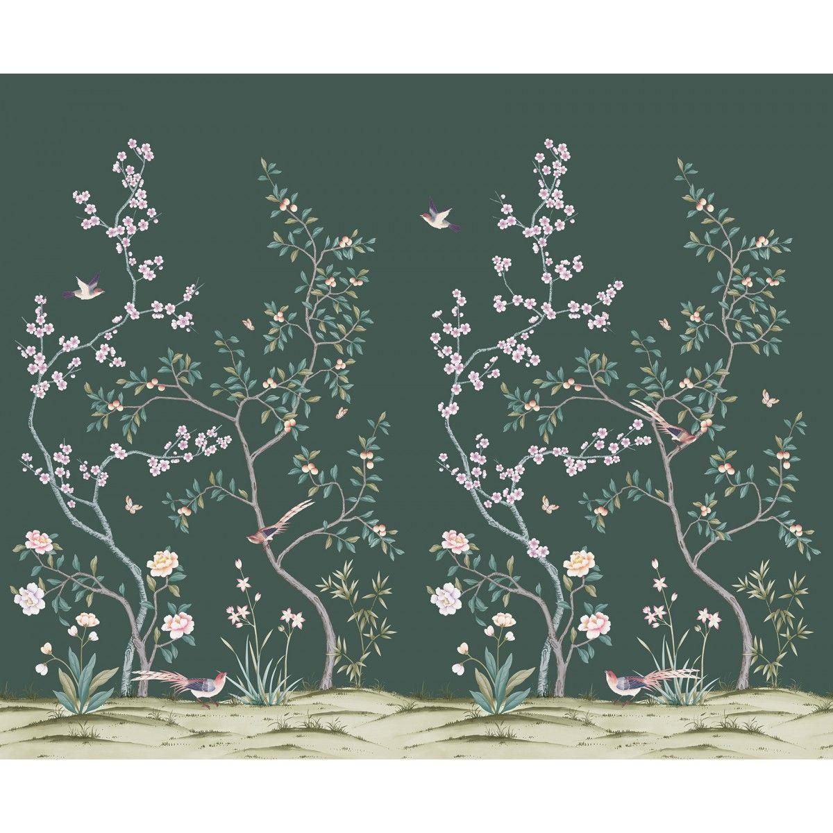 CHINOISERIE Garden Jade Chinoiserie wallpaper, Garden