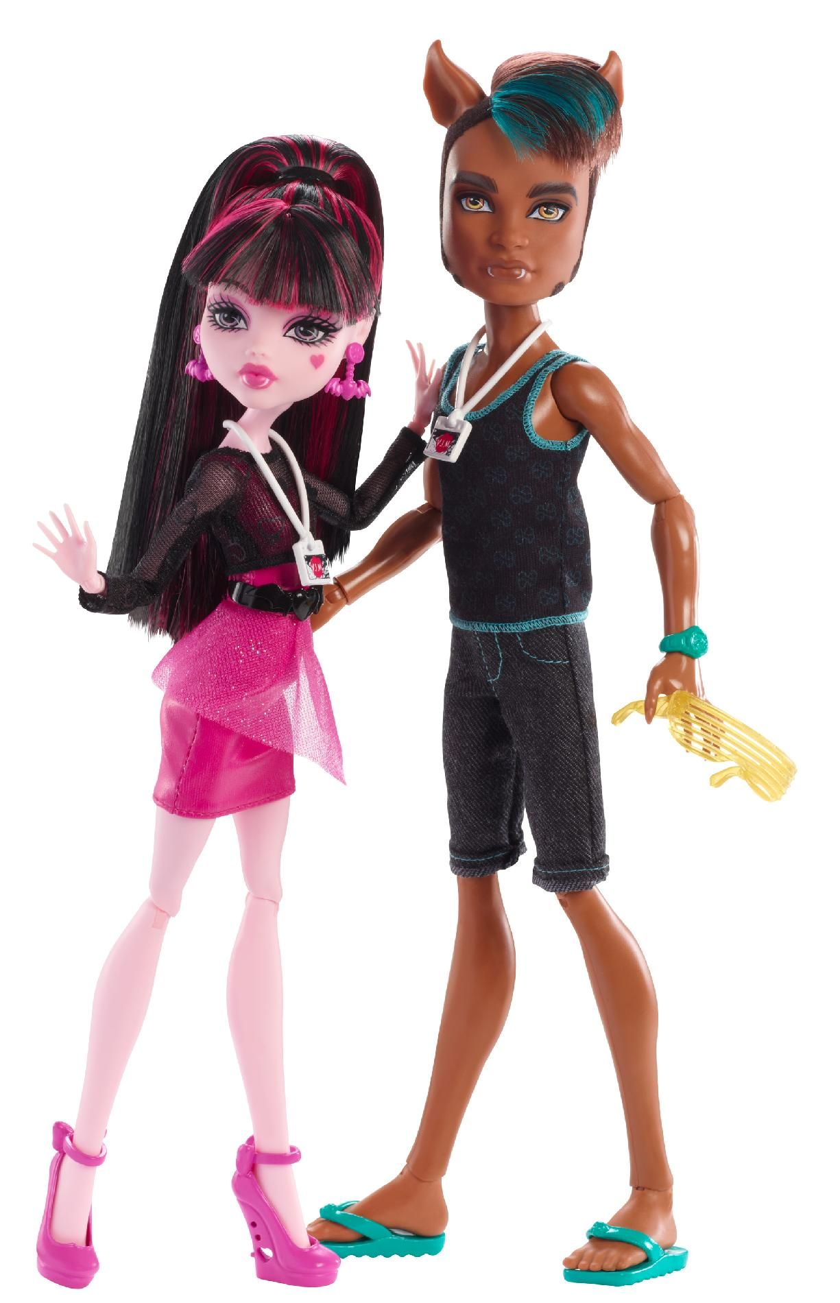 monster high draculaura and clawd meet the press
