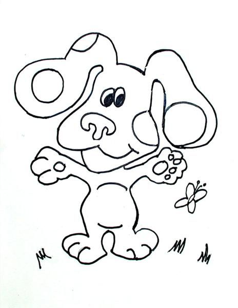 Free printable blue clues 09 for kids. Print out your own