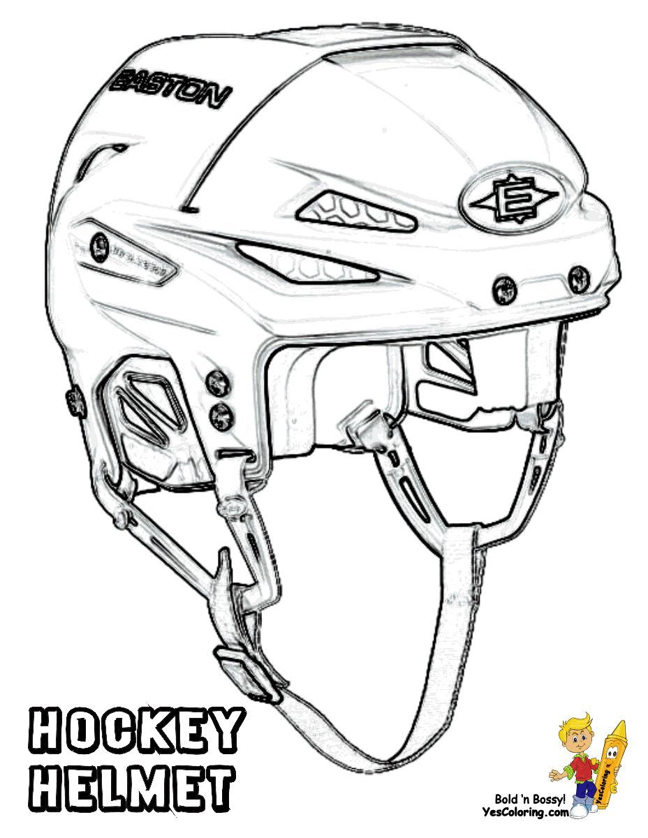 Hat Trick Hockey Coloring Sheets Hockey Helmet Hockey Equipment
