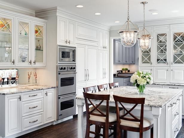 CraftsmanStyle Kitchen Cabinets HGTV Pictures Ideas House Adorable Traditional White Kitchen Cabinets