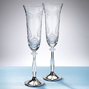 David Tutera Disney Champagne Flutes Disney Fairy Tale Weddings Wedding Toasting Glasses Toasting Flutes Wedding