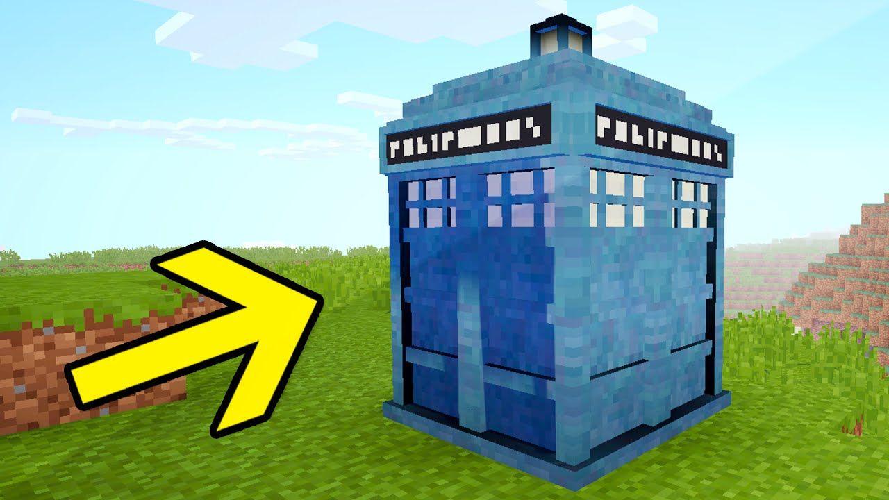 WORKING TARDIS IN MINECRAFT Huge Interior Command Block House - Minecraft hauser comand