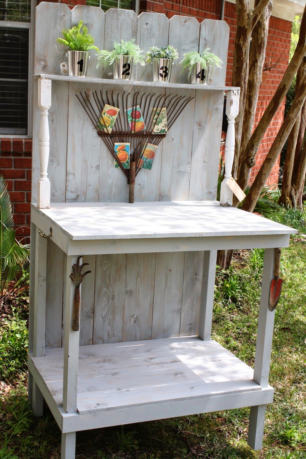 Coastal Charm Perfect Potting Bench With Old Tools 400 x 300