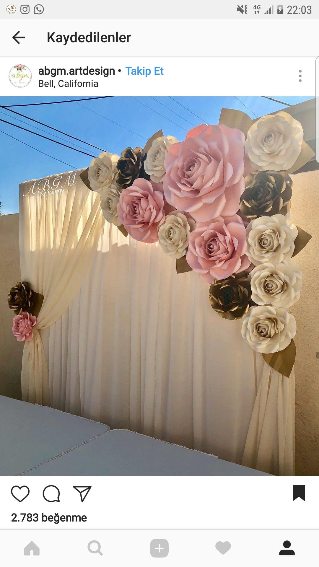 Paper Flowers backdrop for Quinceanera backdrop Wedding Backdrop