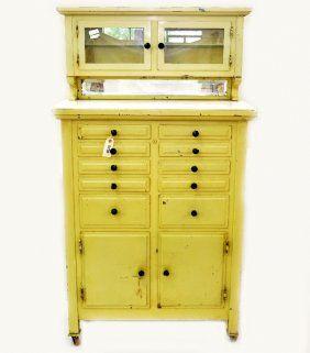 Vintage Dentist Cabinet Dental Cabinet Cabinet