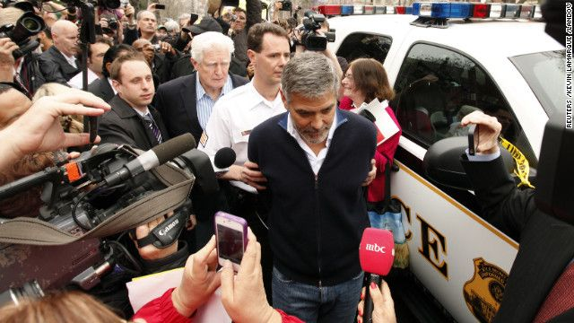 In 2012, actor George Clooney was arrested for civil disobedience during a protest outside the Sudanese Embassy. Clooney has advocated vehemently for a resolution of the Darfur conflict and appeared in the documentary Darfur Now.