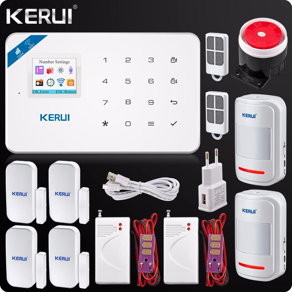 Security Wireless GSM Wifi Alarm System IOS Android APP