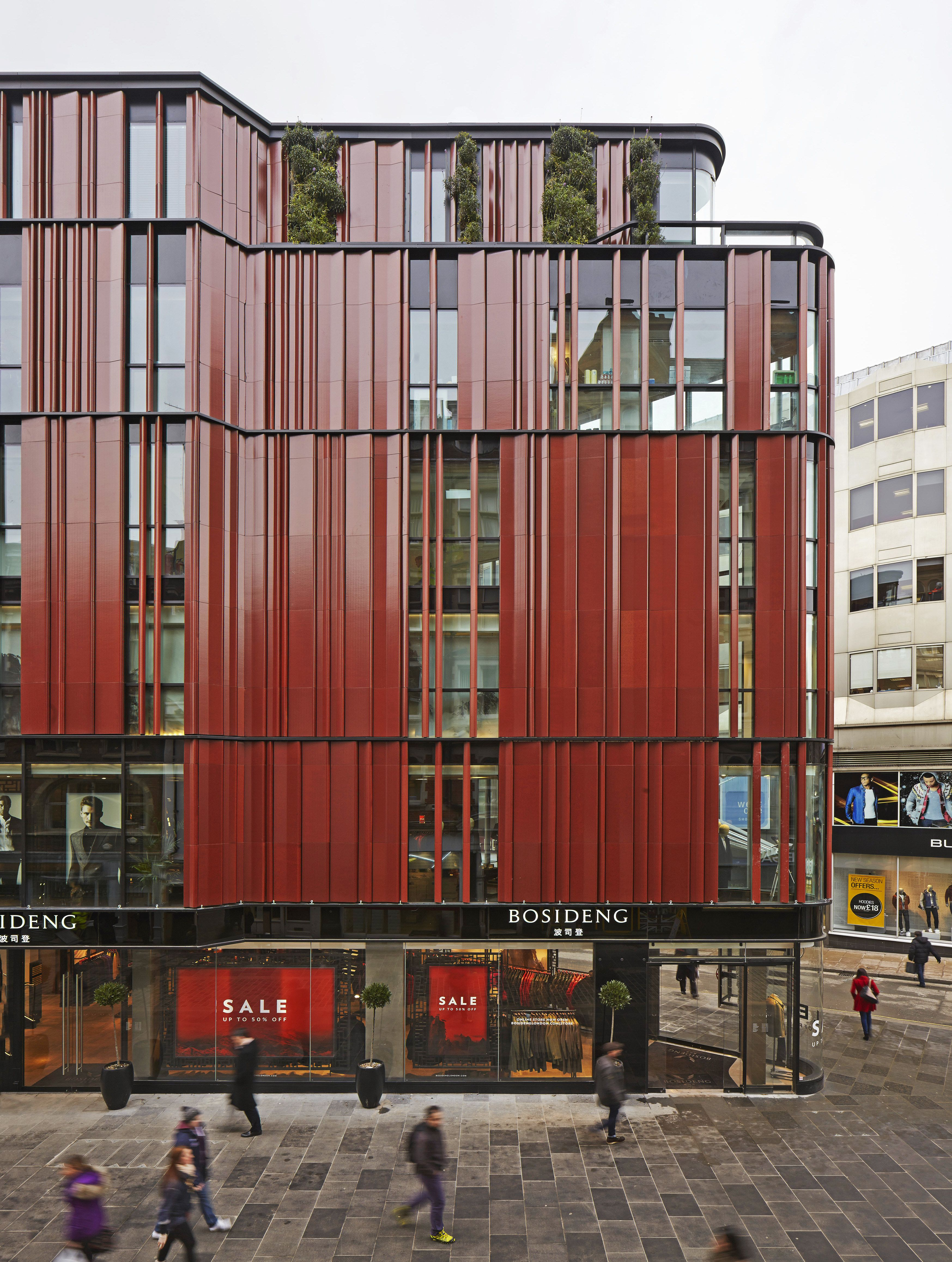 Cutting edge buildings that take terra cotta to new for Modern retail building design