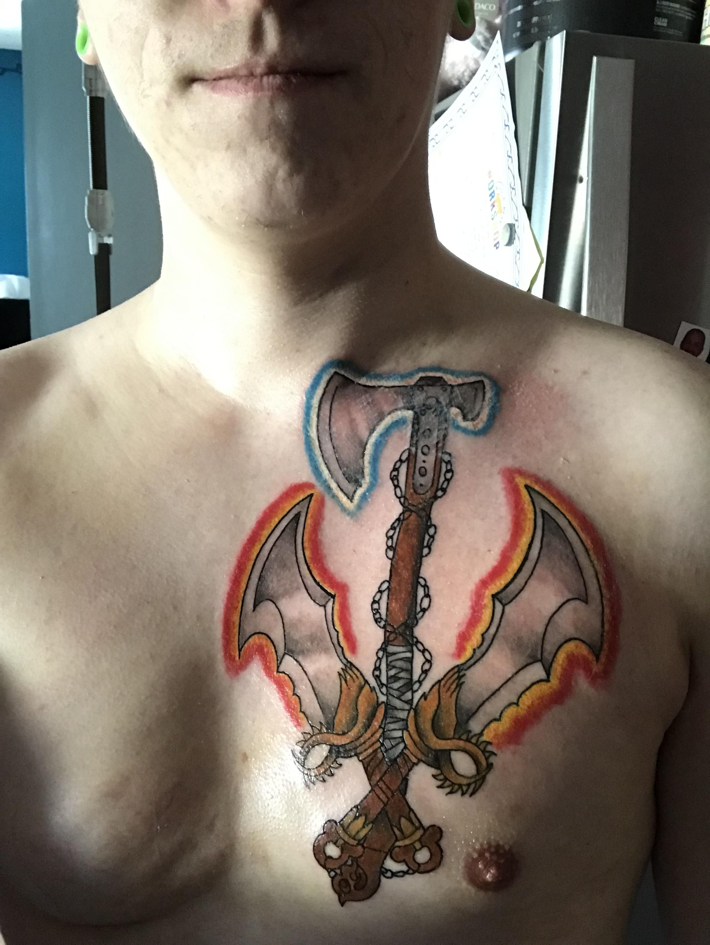 God Of War Leviathan Axe And Chaos Blades Done By Mandy Prue In