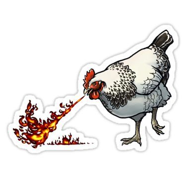 'FLAMEHEN' Sticker by nambroth