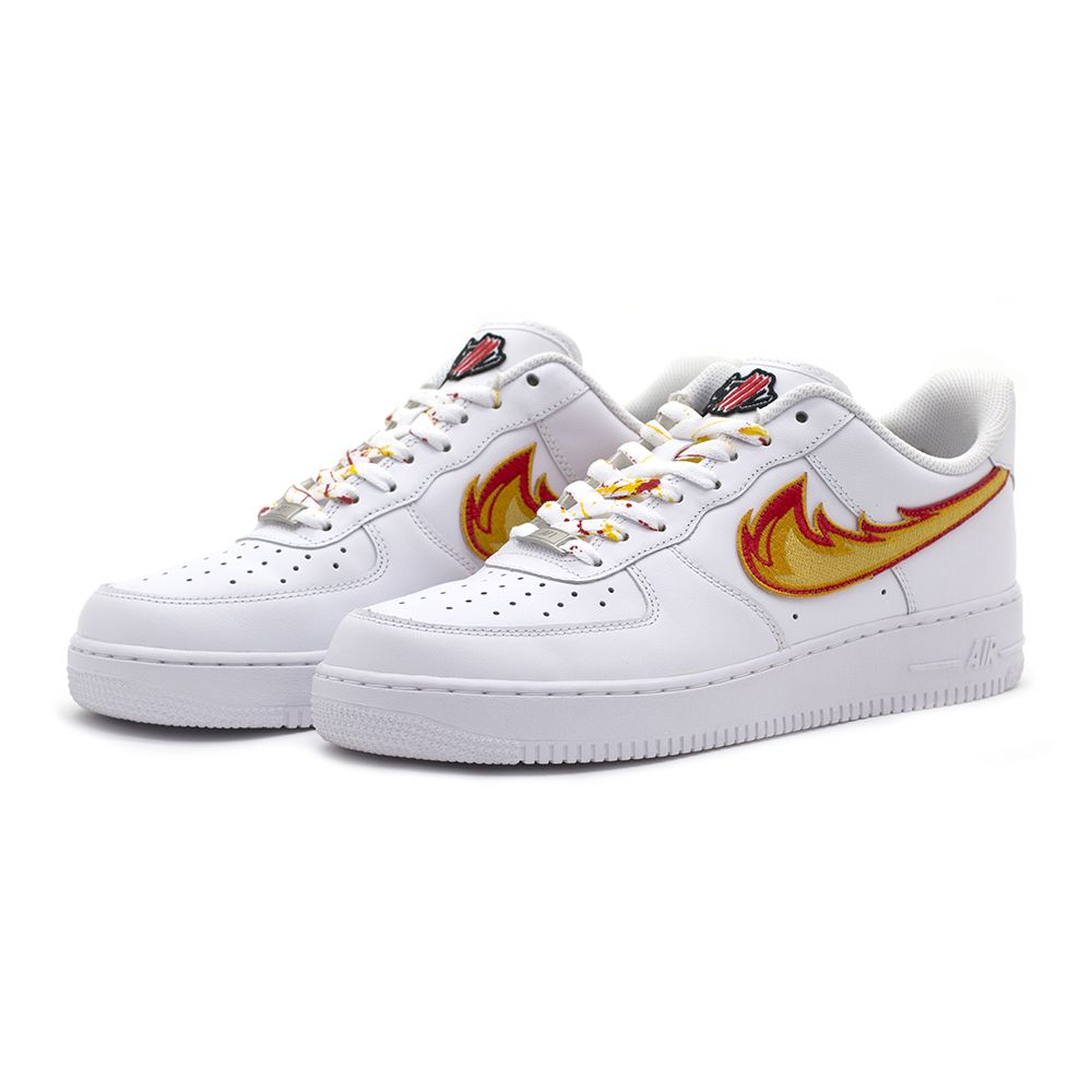0ffa2367491 DRAGON BREATH AIR FORCE 1 White Low Custom Sneakers | Custom ...