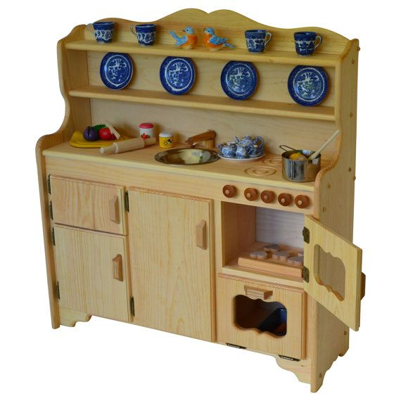 Waldorf Wooden Toy Kitchen Play Kitchen Play By AToymakersDaughter