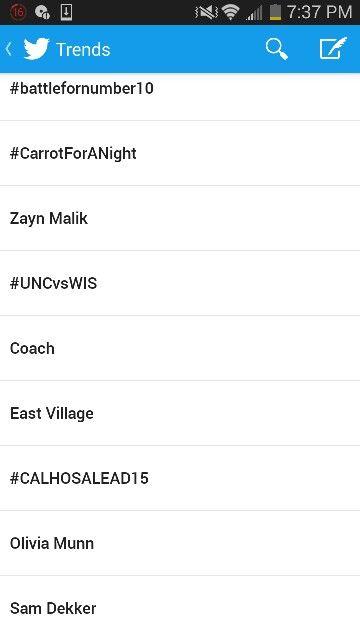 Zayn Malik and #CarrotForANight