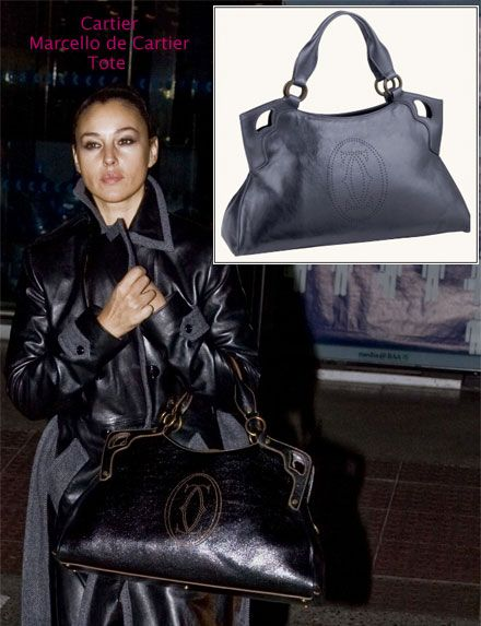 Monica Belluci Purse Style Cartier Marcello De Tote Love The Bag Oooh I Want One