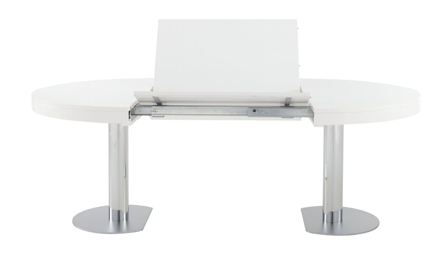 Ligne Roset Craft 2 Extending Dining Table In White Lacquer