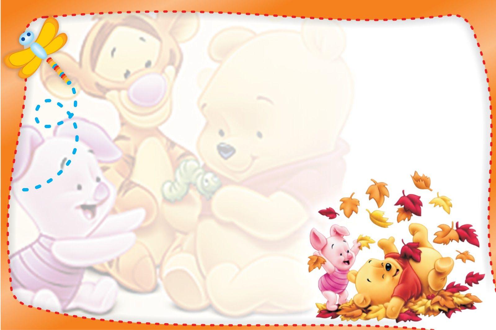 Tarjetas De Cumpleaños Winnie Pooh Para Imprimir Para Fondo De ...