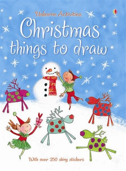 Christmas Scene Drawing For Kids.Christmas Things To Draw From Usborne A Great Activity