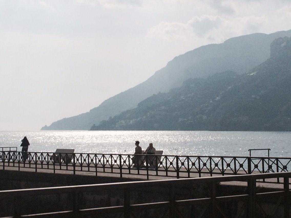 View of the Amalfi coast from Maiori