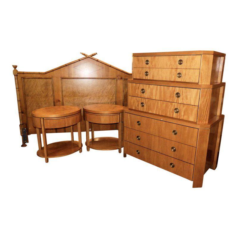Baker Furniture Mid Century King Size Bedroom Set King Size