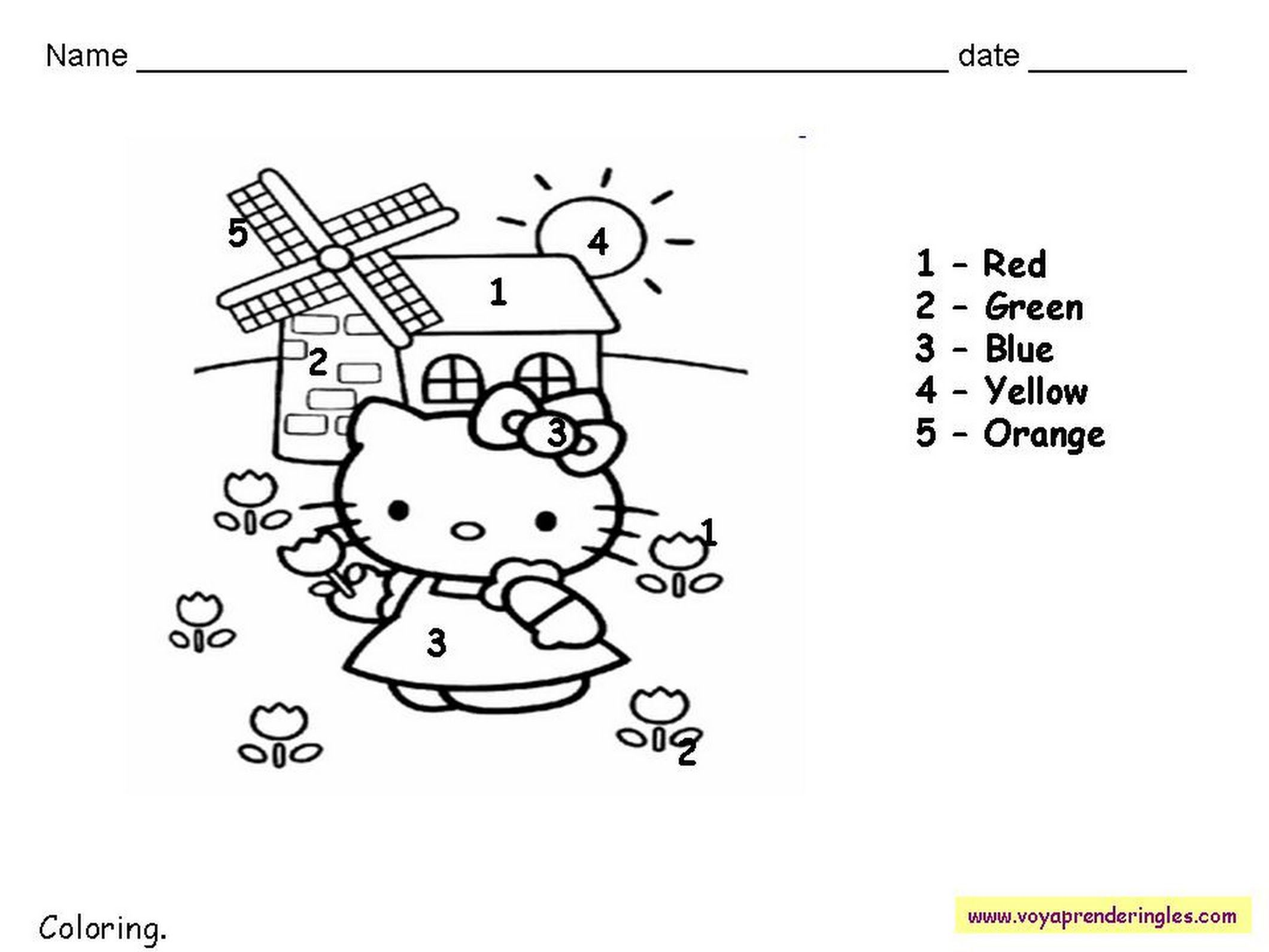 Worksheets The Colors 08