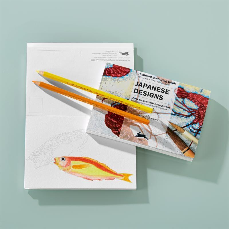 Japanese Designs Postcard Colouring Book Japanese Design Coloring Books Design