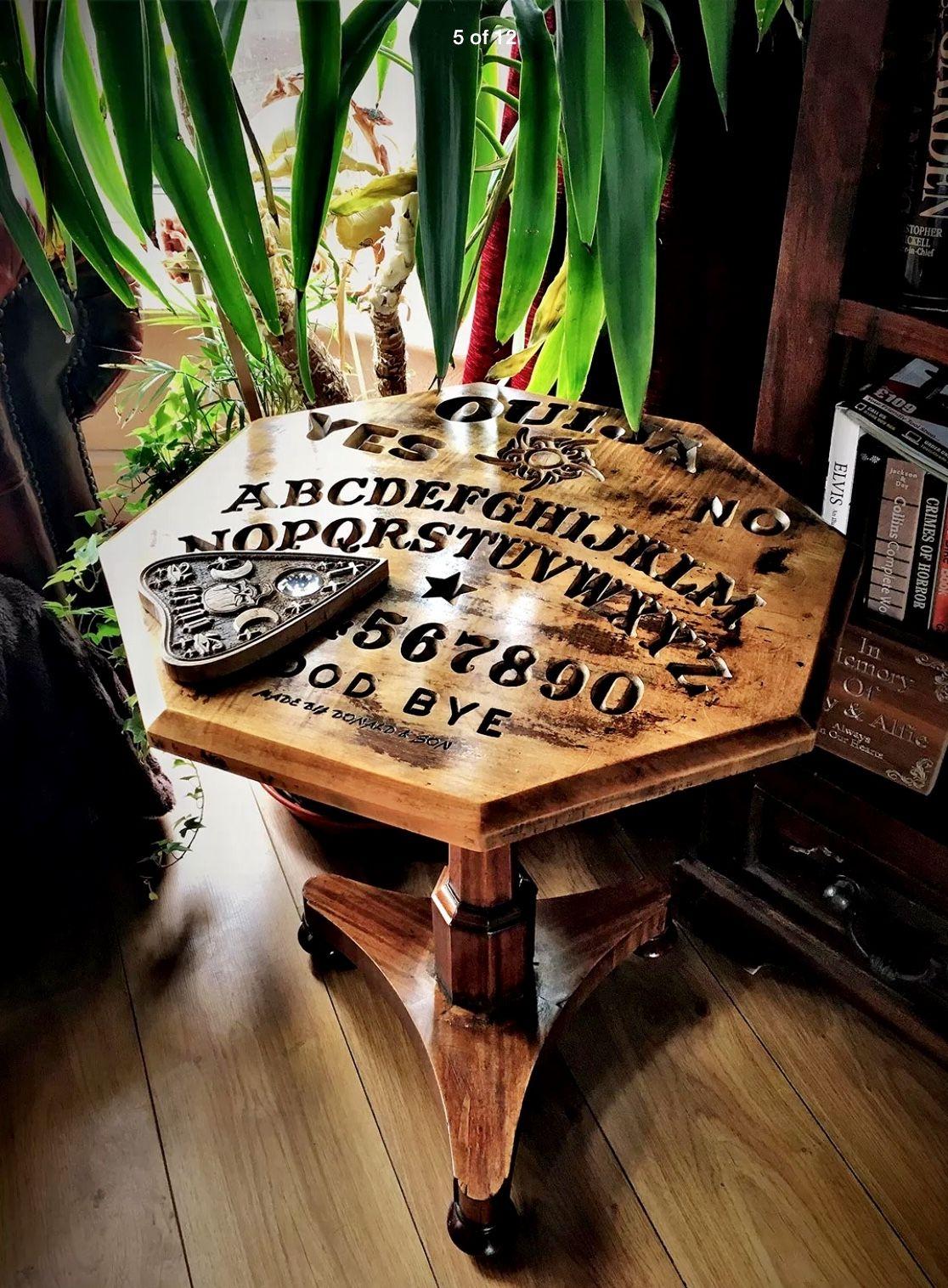More Ouija Tables In Me Ebay Lovewuduk Ouija Table Creepy Decor Wiccan Decor