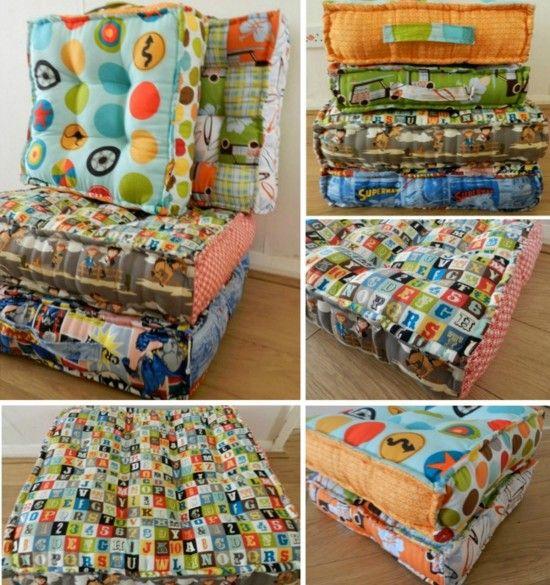 Waffle Floor Pillow Easy DIY Video Tutorial | Waffles, Tutorials and ...