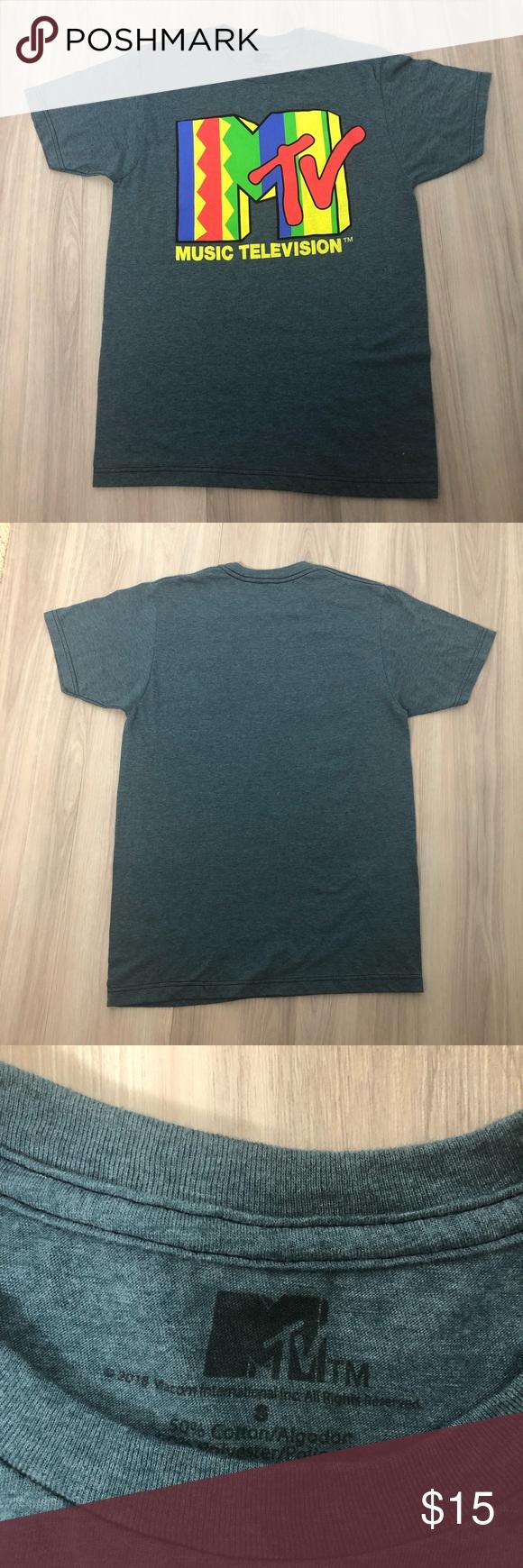 MTV Gray T-shirt with mtv logo, size S