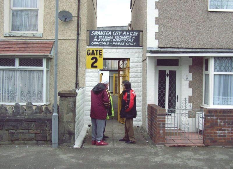 Entrance To Vetch Field Former Home Of Swansea City Swansea City Stadium Pics Swansea