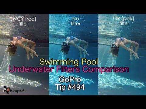 Gopro Underwater Filters Swimming Pool Comparison Gopro Tip 494