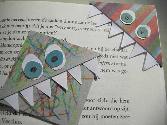 Boekenlegger On Pinterest Monsters Knutselen And Bookmarks