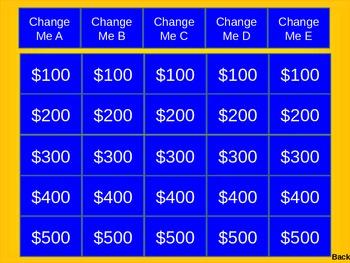 Jeopardy Powerpoint Smartboard Template Smart Board Jeopardy