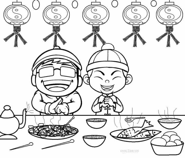 Activity Village Coloring Pages Chinese New Year from