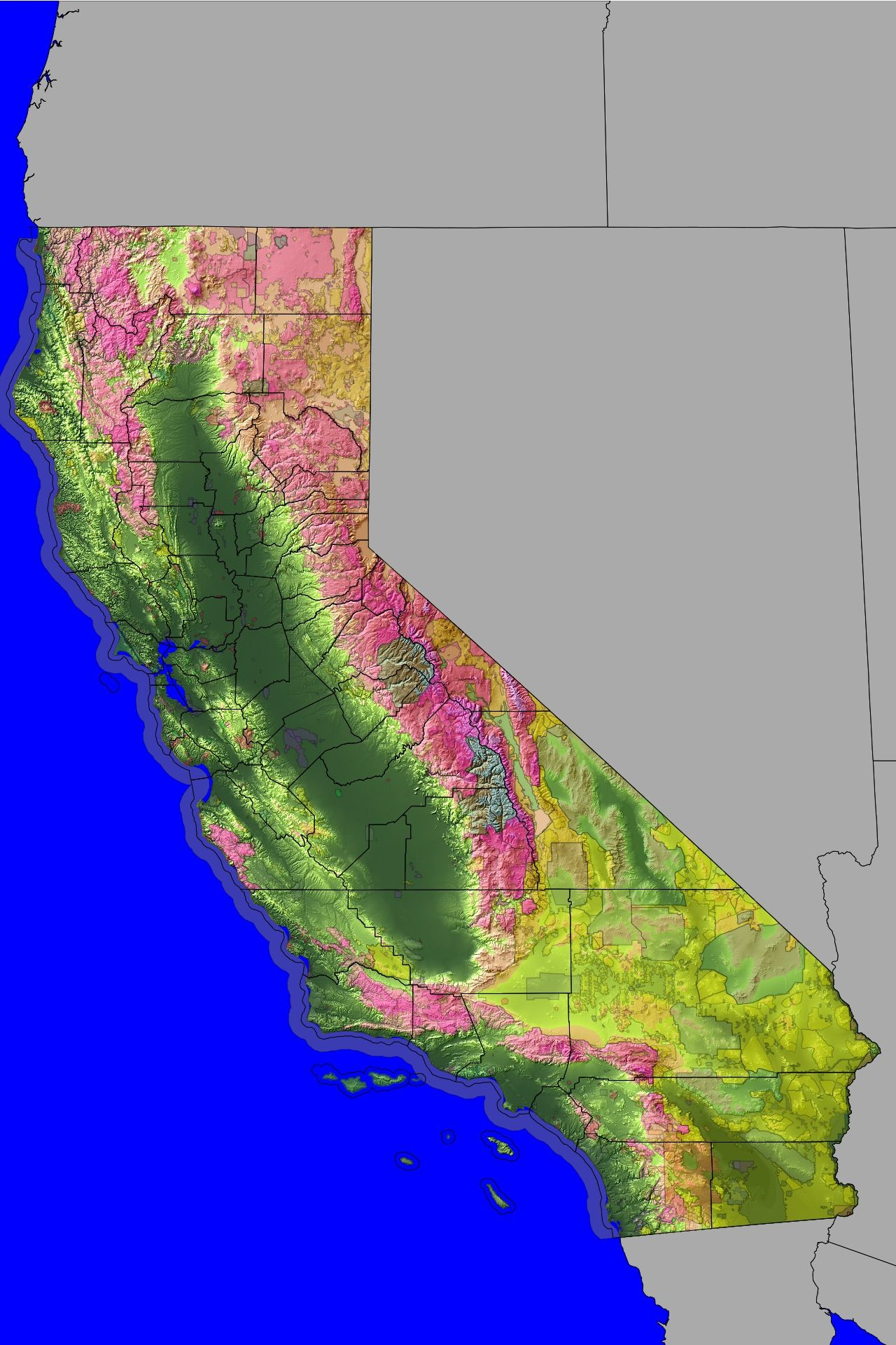 Map Californiau0027s Variable Climate average annual