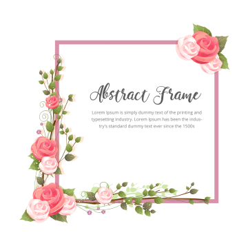 Rose Flower With Branches Abstract Rose Flowers Png And Vector