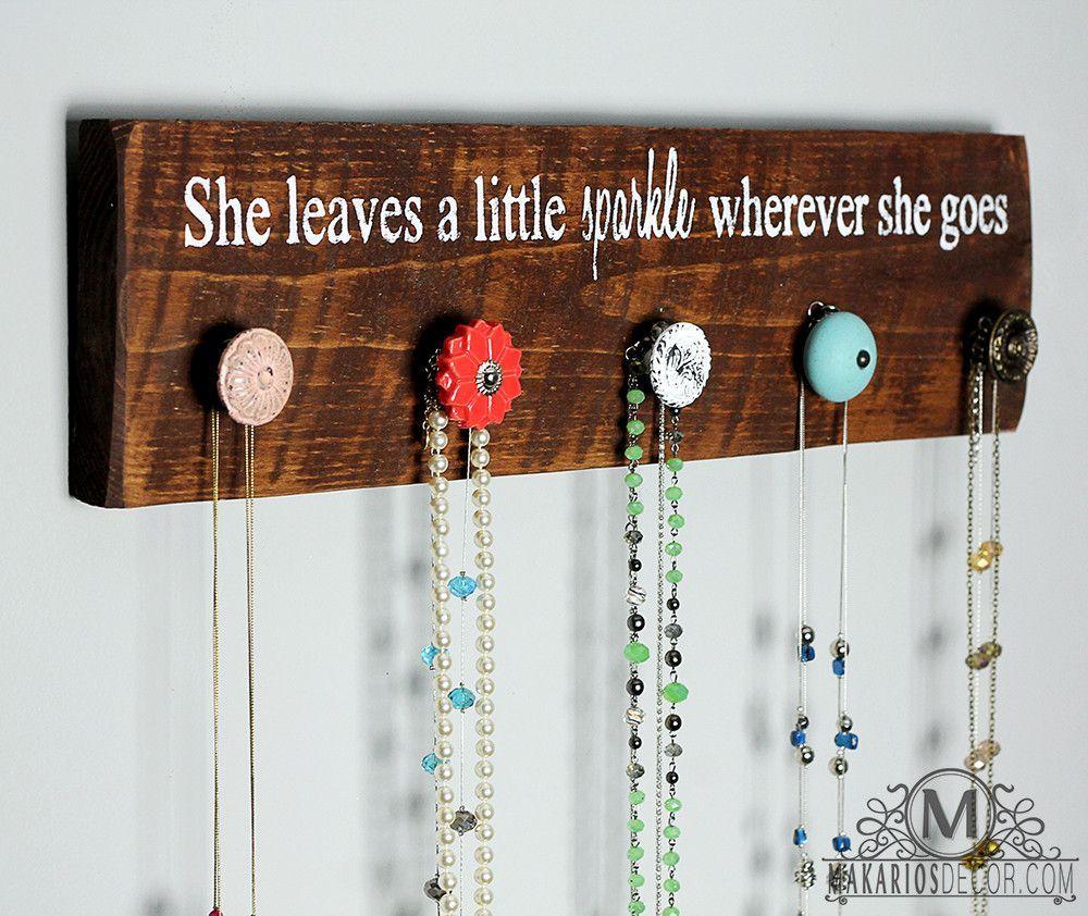 Necklace Rack Diy Jewelry Holder Jewelry Organizer Diy Jewelry