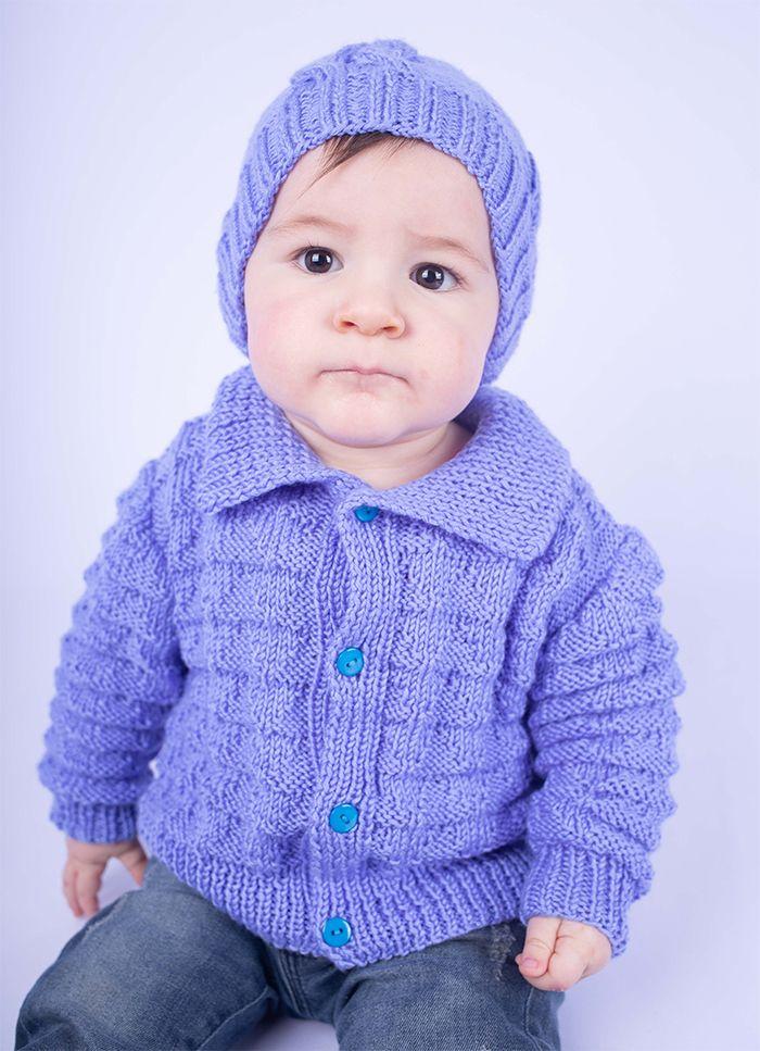 Receitas Círculo Casaco Infantil Azul Mesclado   Casaco