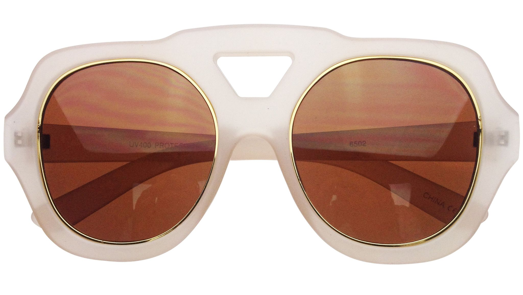 603ca7439df Fantasy Oversized Sunglasses in Beige from Retro City Sunglasses ...