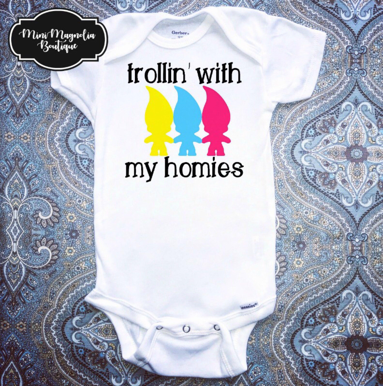 Trolls Baby esie Baby Girl Clothing Funny Baby Bodysuit