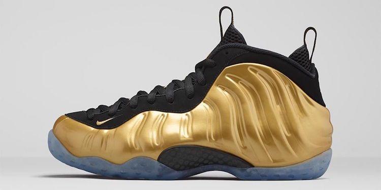 Gold Foams | Nike gold, Nike, Foam posites