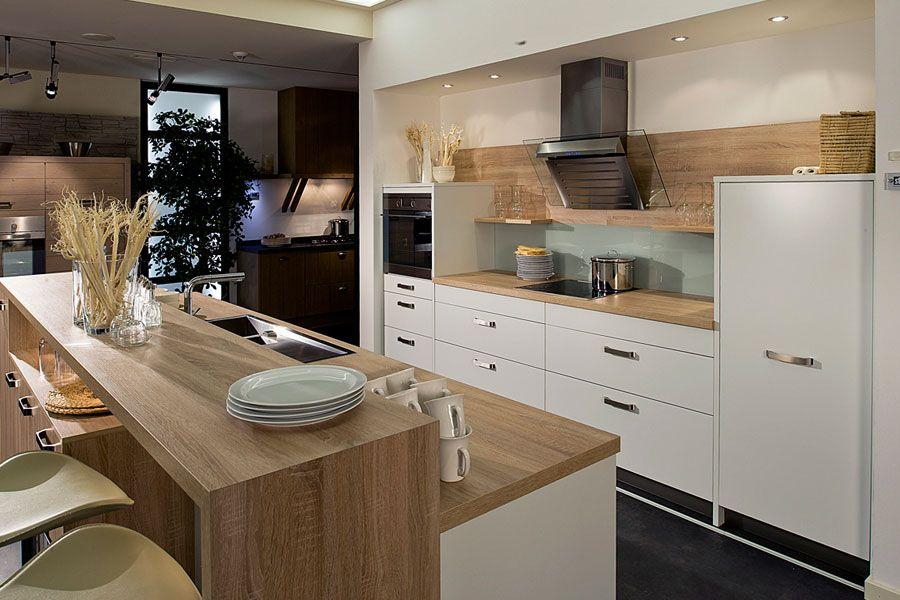 Küche Eiche Modern Perfekt On In Bezug Auf Wohndesign ...