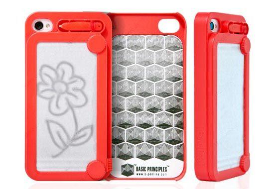 iFoolish Magic Drawing iPhone 4 Case |Gadgetsin A mini Etch-a-Sketch for iPhone :)