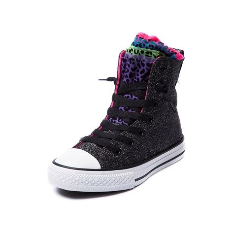 ba720b00fa83a4 Shop for Youth Converse All Star Party Hi Sneaker in Black Multi at Journeys  Kidz.