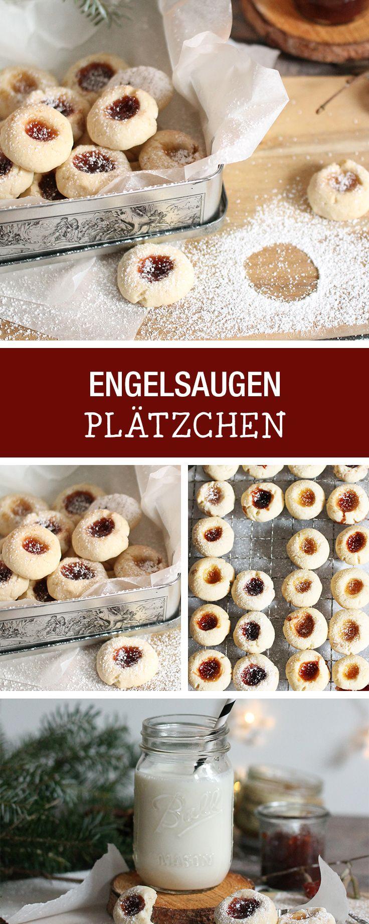 Leckere pl tzchen engelsaugen backen weihnachtsb ckerei christmas cookies recipe for - Weihnachtsdeko backen ...