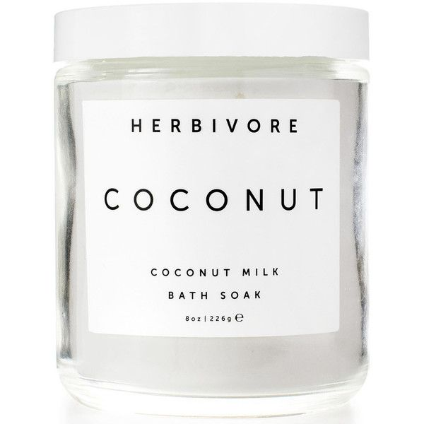 Herbivore Botanicals Coconut Milk Bath Soak Goop ❤ liked on Polyvore featuring beauty products, bath & body products and body cleansers
