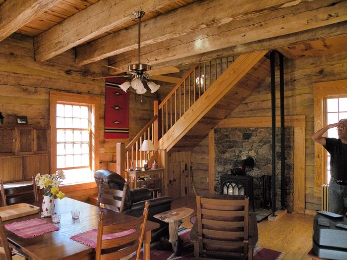 Photo gallery traditional hand hewn log homes custom for Hewn log cabin kits