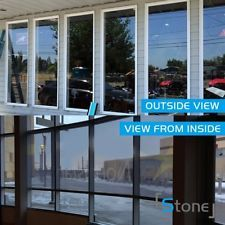Silver Window Tint One Way Mirrored Reflective Solar tint Privacy glass Film