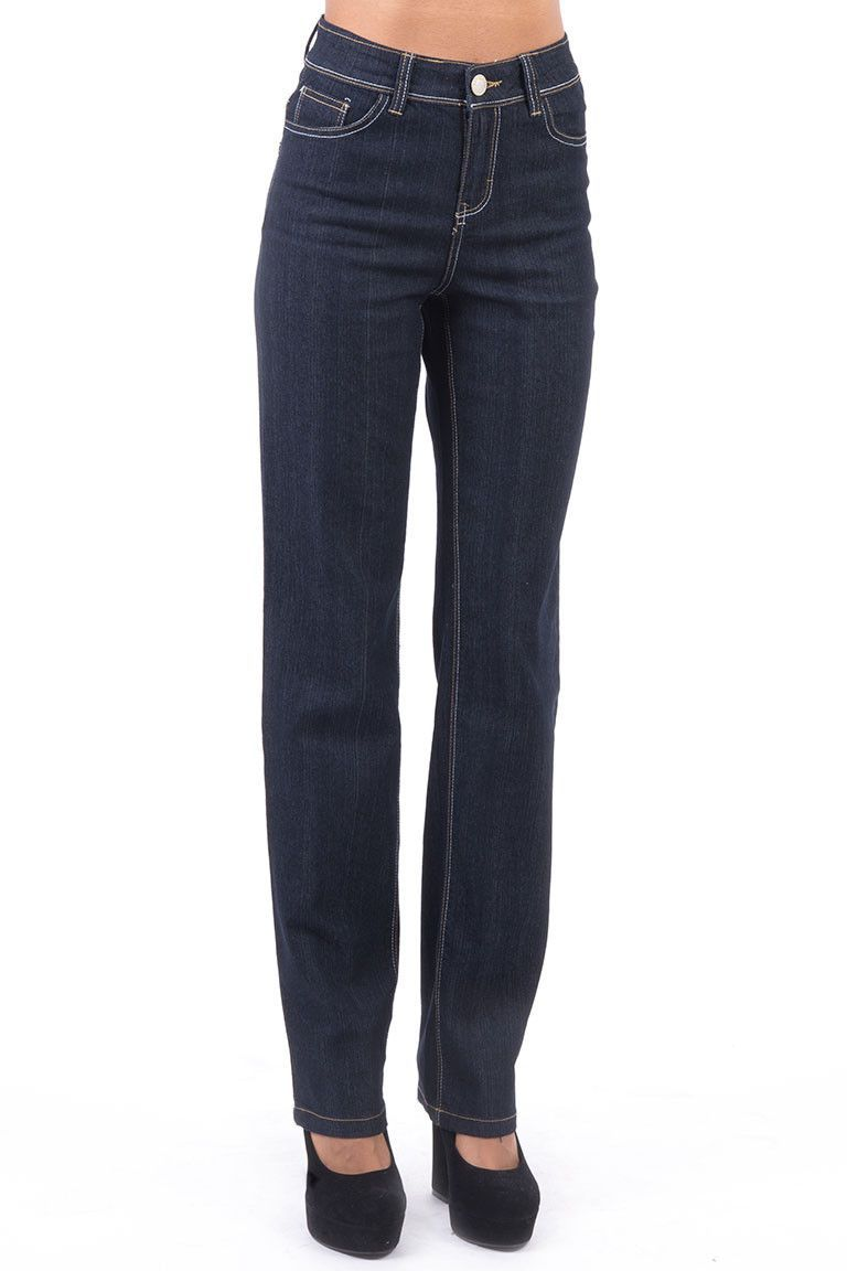 Stretchy Straight Long Leg Jeans
