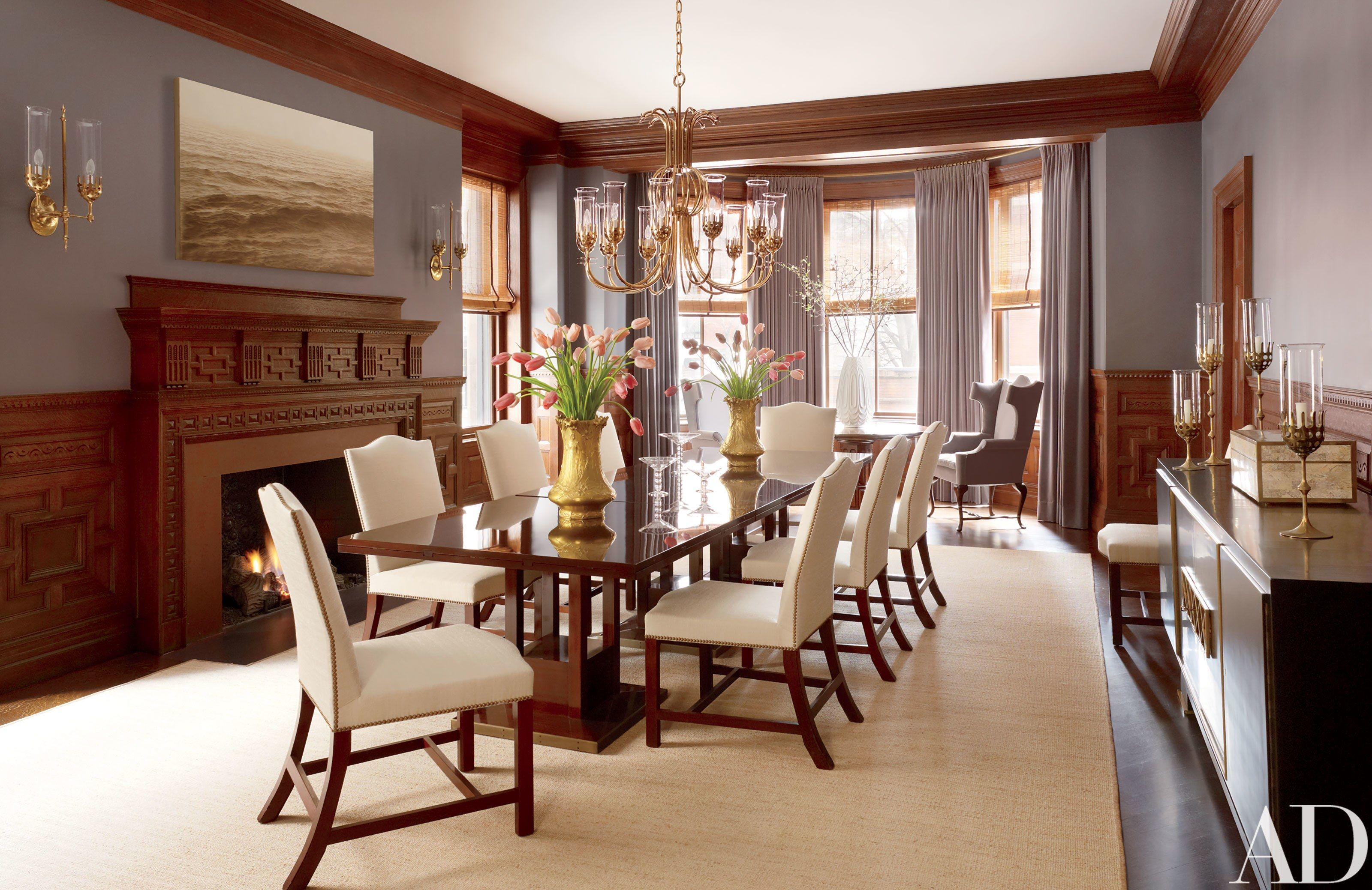 Thad Hayes Combines Two Historic Boston Houses Into One Grand Family Home Large Dining TablesDining Room